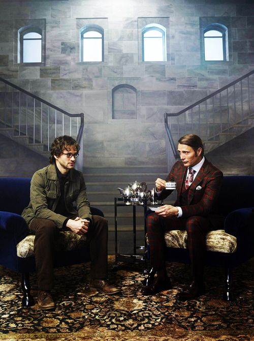 Mads Mikkelsen and Hugh Dancy / Hannibal  I FUCKING LOVE HANNIBAL!!!!!!!!!!!!!