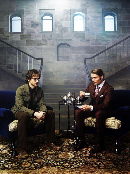 Mads Mikkelsen and Hugh Dancy / Hannibal promo