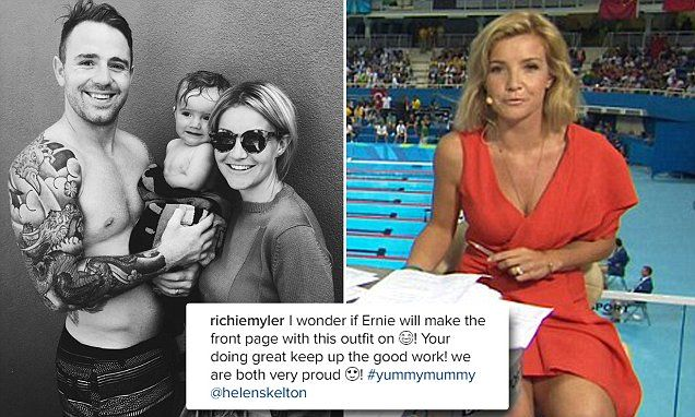 Helen Skelton's rugby player husband Richie Myler is cheering her on
