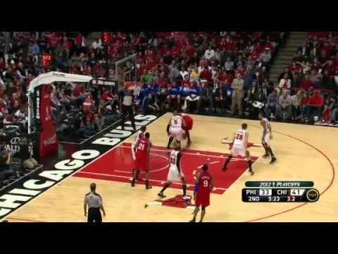 NBA Playoffs 2012: Philadelphia Sixers Vs Chicago Bulls Game 1 Highlights (0-1) - http://weheartchicagobulls.com/chicago-bulls-videos/nba-playoffs-2012-philadelphia-sixers-vs-chicago-bulls-game-1-highlights-0-1