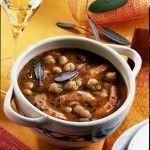 Ricetta Zuppa di fagioli, ceci e gamberi | Donna Moderna