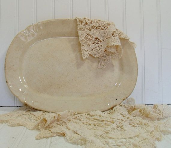 Ironstone Farmhouse Platter  Vintage Pottery by DivineOrders, $32.00