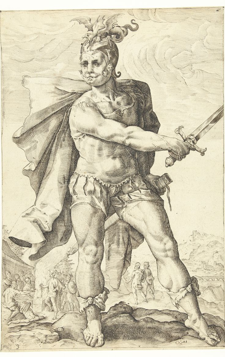 Mucius Scaevola, Roman hero by Lucas van Haelwech, 1602.  Rijksmuseum, Public Domain