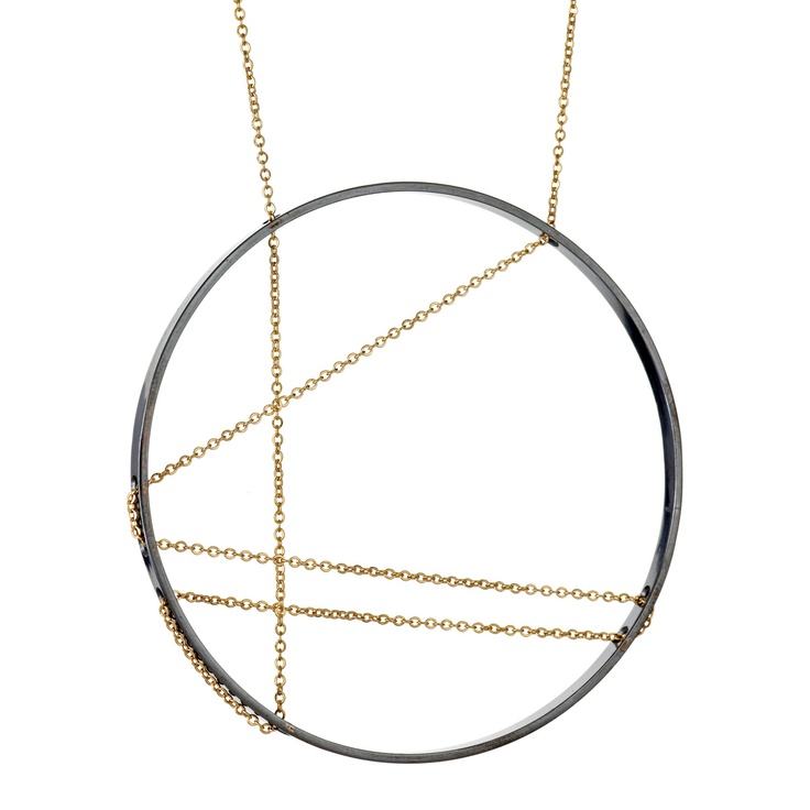 inner circle necklace by vanessa gadeNecklace Repin By Pinterest, Necklaces Large, Jewelry, Vanessa Gade, Silver 14K Gold, Large Inner, Inner Circles, Circles Necklaces, Circles Necklace Repin