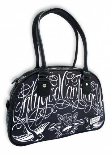Rockabilly veske fra LIQUOR BRAND med trykk. #liquorbrand #veske #bag #onlygodcanjudgeme #tattoo #rockabilly #zendesign