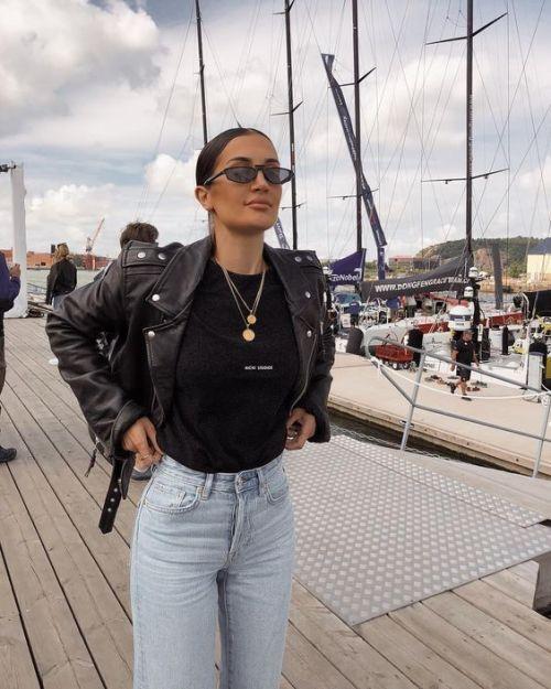 Street Style : streetstyleplatform: ASOS DESIGN leather jacket