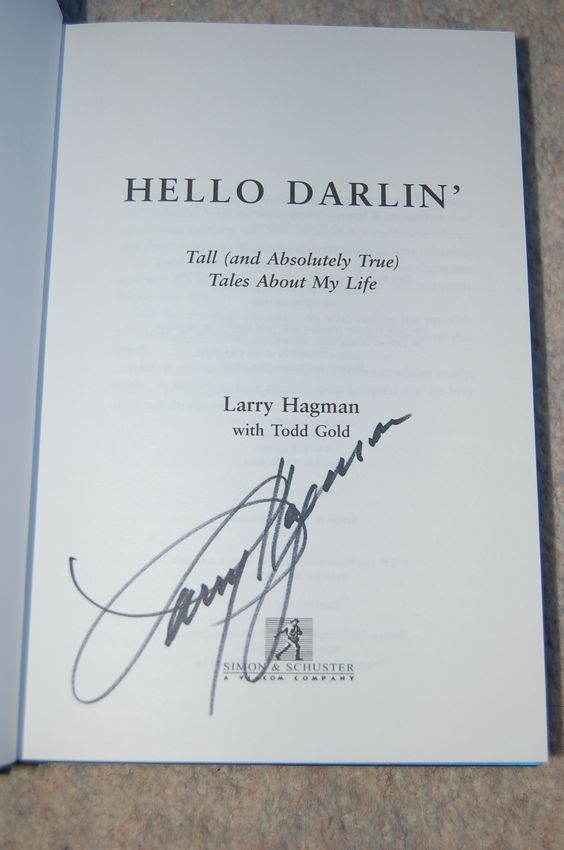Signed copy of Larry Hagman's biography Hello Darlin' by Larry Hagman with Todd Gold (2001)