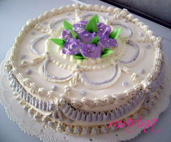 Risultati immagini per torte decorate con panna torte - Torte salate decorate ...