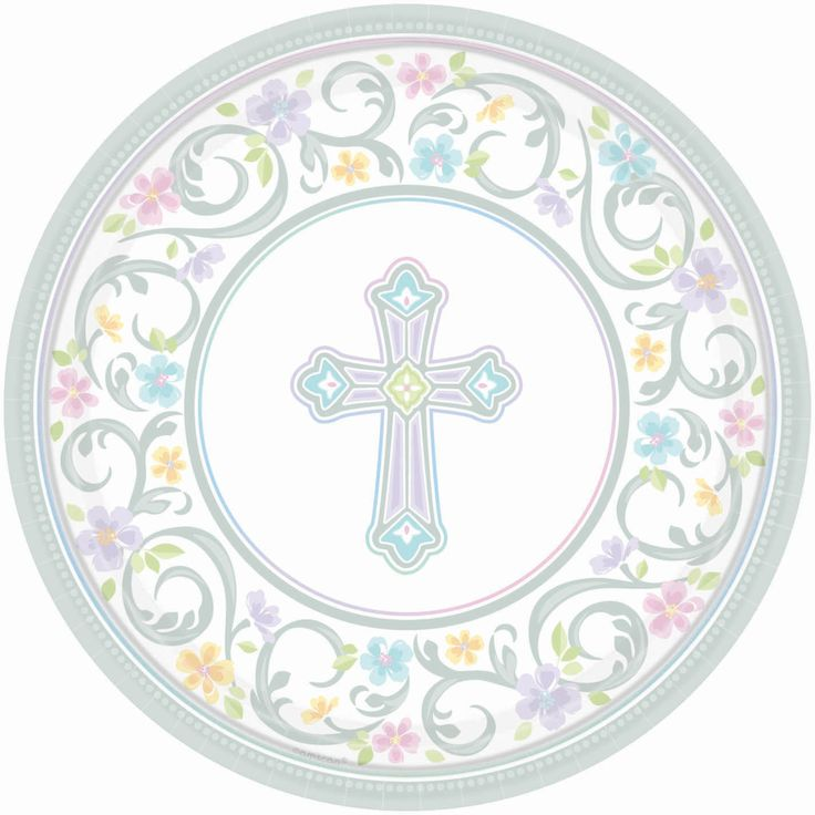 Blessed day 10in paper plate (8ct) Also available in 7in  sc 1 st  Pinterest & 47 best P2O: Religious Events images on Pinterest | First communion ...