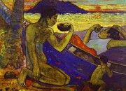 """New artwork for sale! - """" A Canoe Tahitian Family 1896 by Gauguin Paul """" - http://ift.tt/2zTTKk3"""