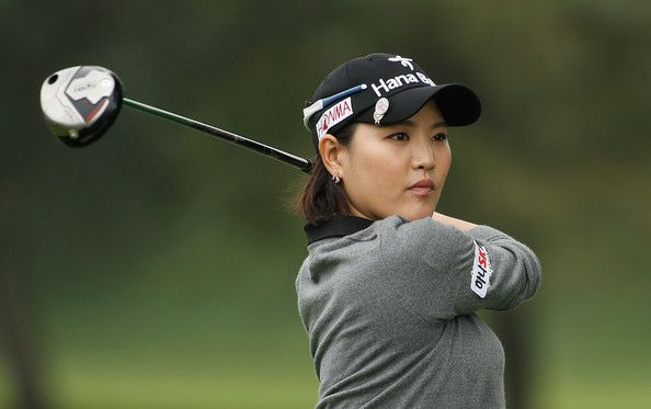 So Yeon Ryu of South Korea hits her tee shot on the third hole during the final round of the Lorena Ochoa Invitational Presented by Banamex at the Guadalajara Country Club on November 17, 2013 in Guadalajara, Mexico.