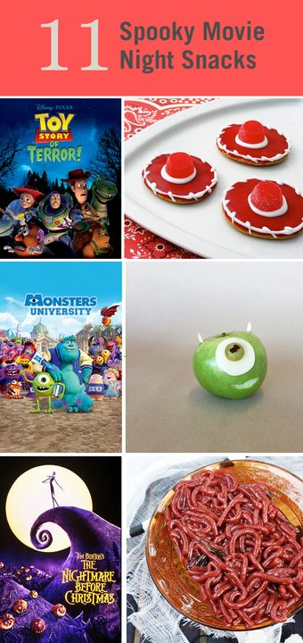 These 11 spooky snacks make a perfect pairing with your favorite Halloween movies. Gather the family together in the kitchen before you gather together on the couch for a night of the classics.
