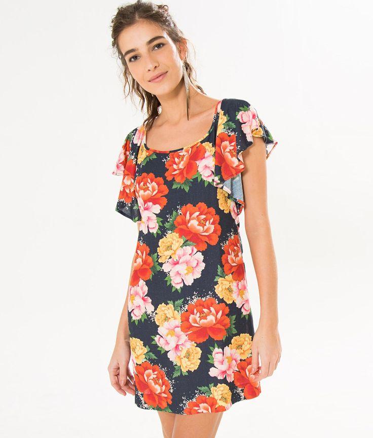 vestido chita oriental