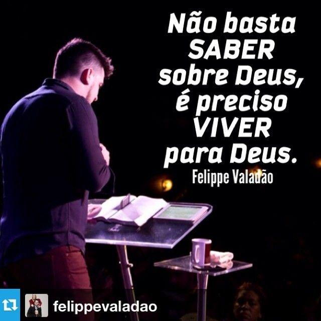 """Repost from @felippevaladao """"O meu povo foi destruído, porque lhe faltou o conhecimento; porque tu rejeitaste o conhecimento, também eu te rejeitarei, para que não sejas sacerdote diante de mim; e, visto que te esqueceste da lei do teu Deus, também eu me esquecerei de teus filhos."""" Oseas 4:6   Amo você  dia pra todos!!! Felippe Valadão Pastor"""