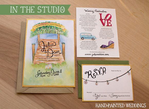 Invitation By Hand Painted Weddings