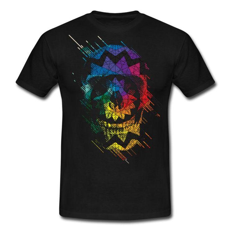 Hvit Geometrisk Skull T-skjorter - T-skjorte for menn