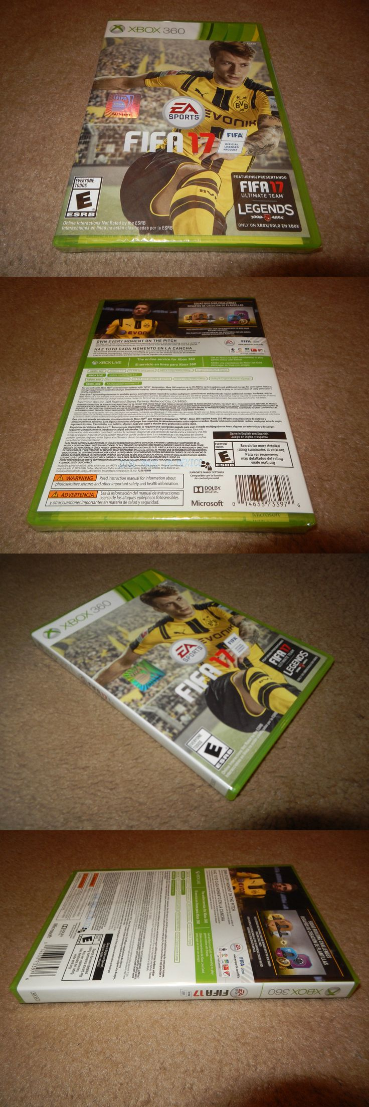 Video Gaming: Fifa 17 Microsoft Xbox 360 Game Brand New Factory Sealed! BUY IT NOW ONLY: $31.99
