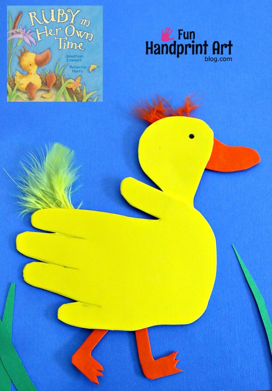 Hand Shaped Duck from Craft Foam - Book Activity (follow up for Ruby in Her Own Time)