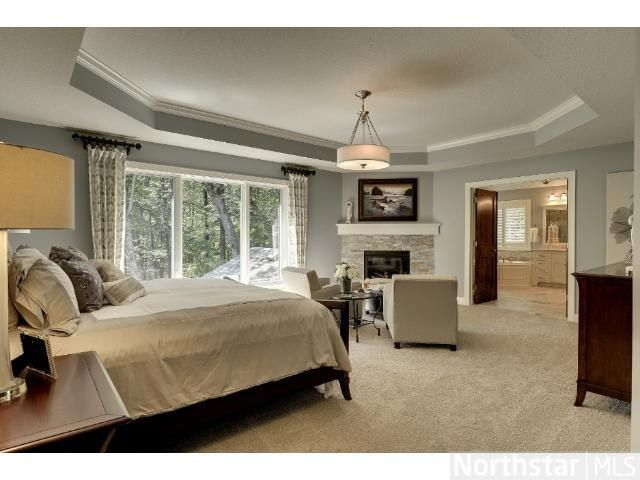 Master Bedroom With Fireplace Dream House Design Ideas