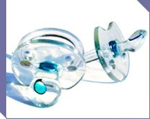 Pacifier with a green dot that changes color if baby has a fever! So easy!