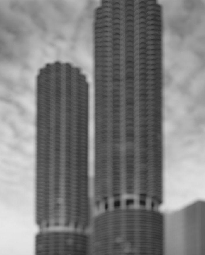 Marina City (Goldberg Associates), 2001. Photograph by Hiroshi Sugimoto