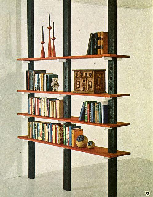 60s Bookshelf Room Divider