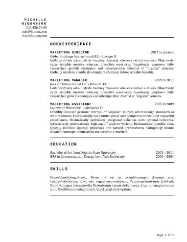 461 best Resume Templates and Samples images on Pinterest Free - internal resume template