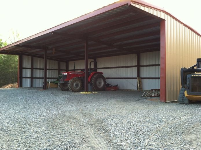 Metal Tractor Barns : Metal storage agricultural perfect for hay or tractor