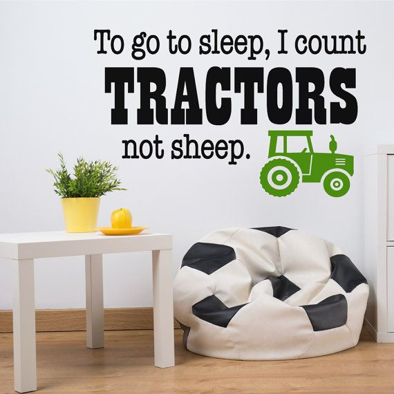 Wall Decals by Luxe Loft - Decorate your childs room or nursery with this fun tractor themed wall decal. This is perfect for a family in love with