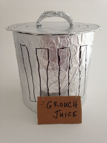 Oscar the Grouch Trashcan Punch Bowl for Sesame Street birthday party