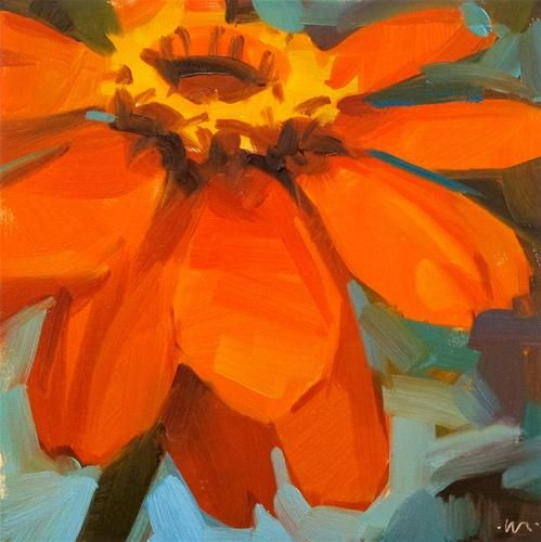 """Happy Orange"" - Original Fine Art for Sale - © Carol Marine"