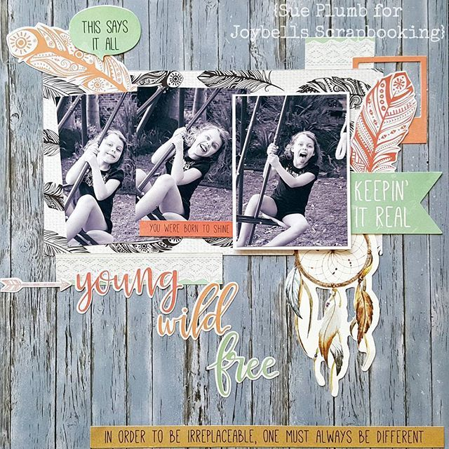 A layout featuring my darling daughter created using the new Boho Dreams…