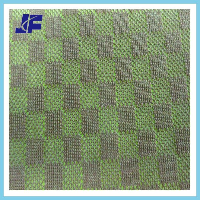 concavo-convex rectangle jacquard nylon mesh fabric