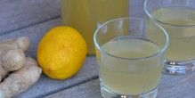 Lækker ingefærdrik med citron, der giver lidt syre