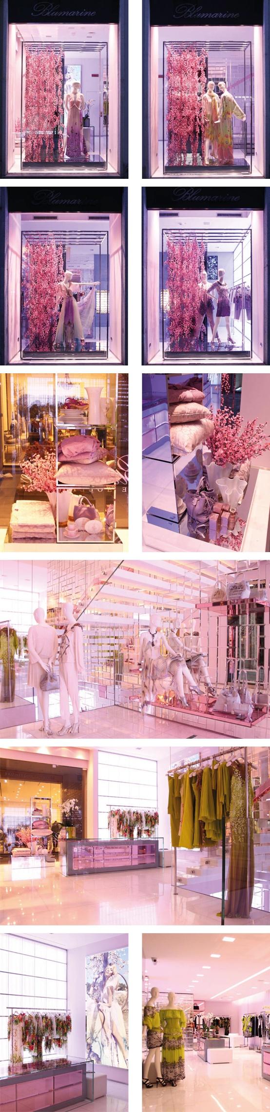 Blumarine Milan Boutique Windows - February 2013