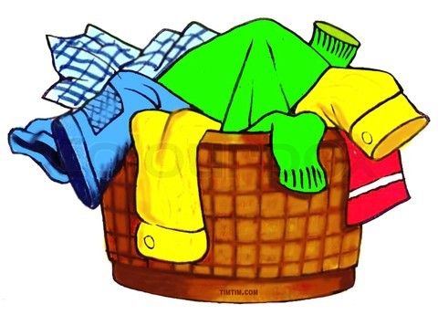 laundry basket clipart. Laundry Basket Illustration | Vector Clipart A