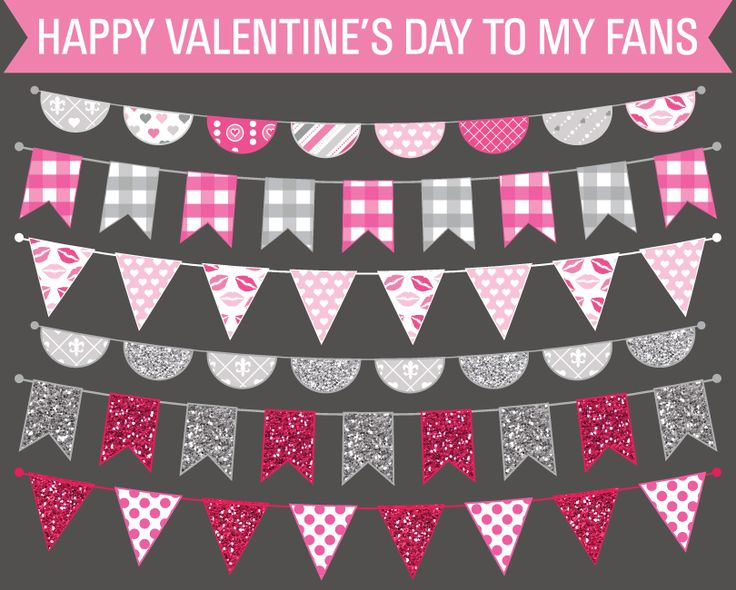Free Clip Art Valentine's Day Bunting Flags!