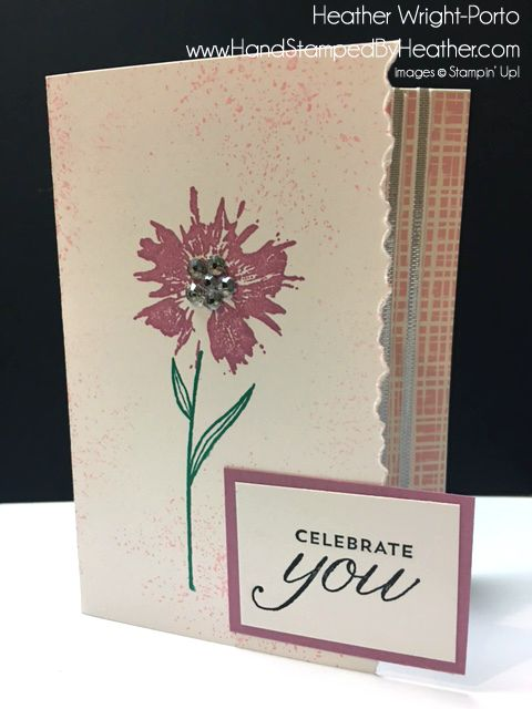 Hand Stamped By Heather Wright-Porto: Stampin' Up! Touches of Texture: Color Challenge