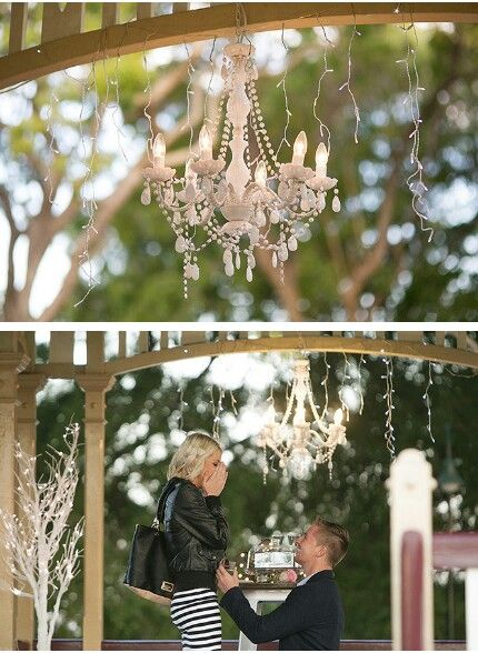 A Sparkling Surprise Proposal At New Farm Park Rotunda Styled By Brisbane Wedding Decorators Www