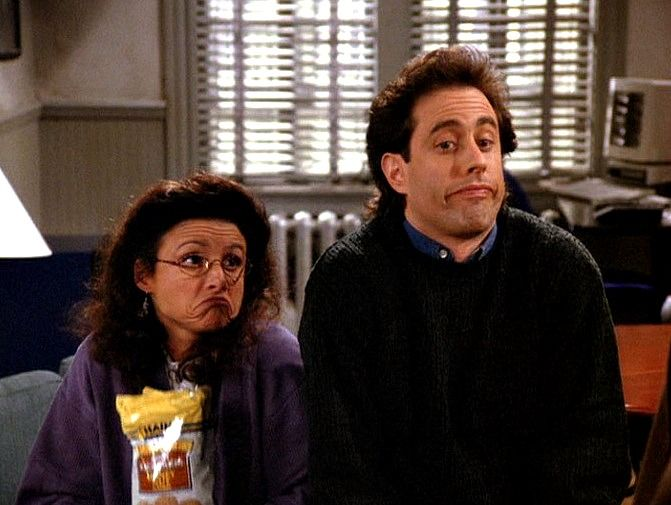 Jerry Seinfeld and Julia Louis-dreyfus
