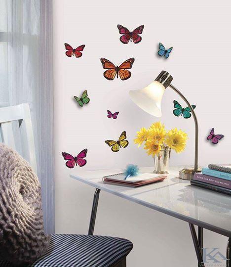 Personalizeaza biroul cu acesti fluturii: atat de frumosi si de colorati ca iti fura respiratia!