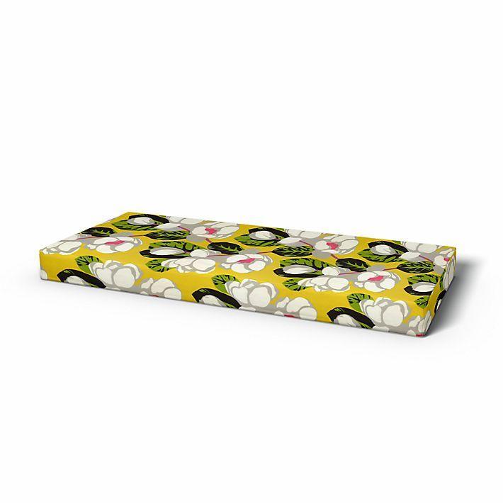 Mattress Cover, Mattress covers, 80x200 cm, Height 18 cm, Regular Fit using the fabric Flamingo Park Lemongrass