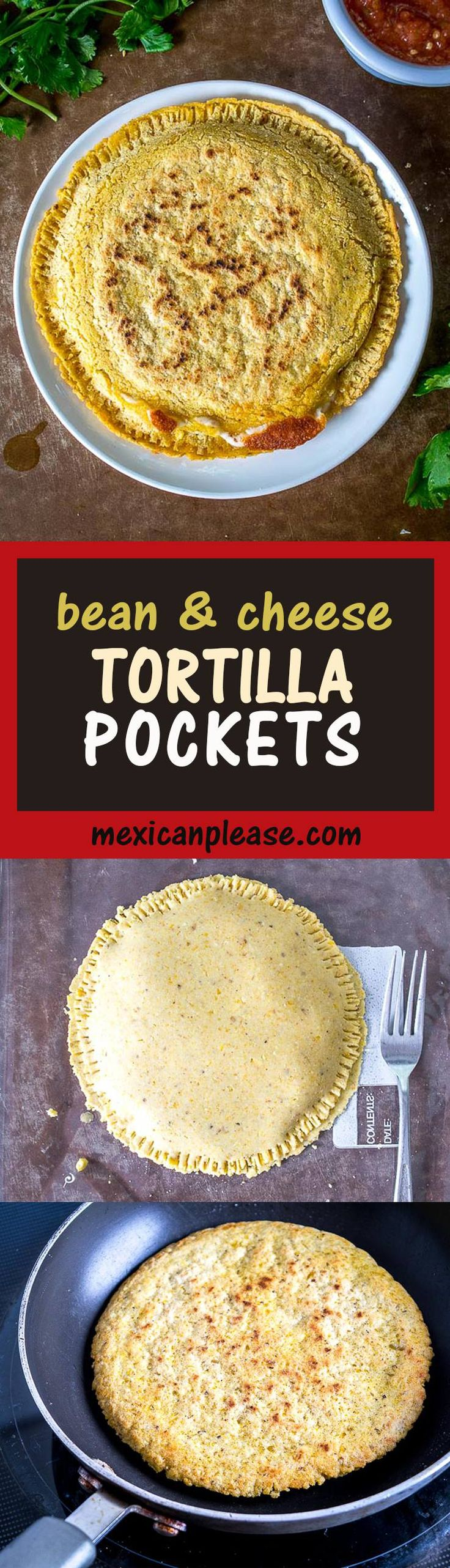 Two crispy corn tortillas surround a pocket full of spicy black beans and mozzarella cheese.  Be sure to use a bit of oil when cooking them, this will help them crisp up.  mexicanplease.com