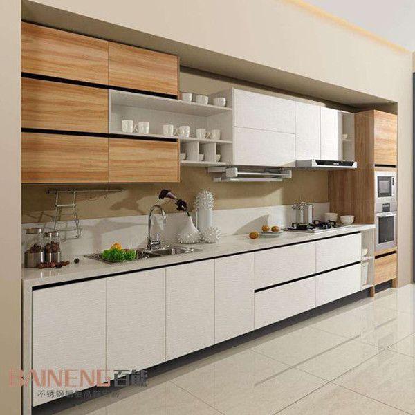 Melamine Kitchen Cabinet Color Bination With Good Desain Interior Interior Dapur