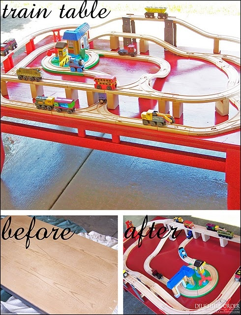 Turn coffee table to train table kid fun pinterest trains projects and my son Train table coffee table