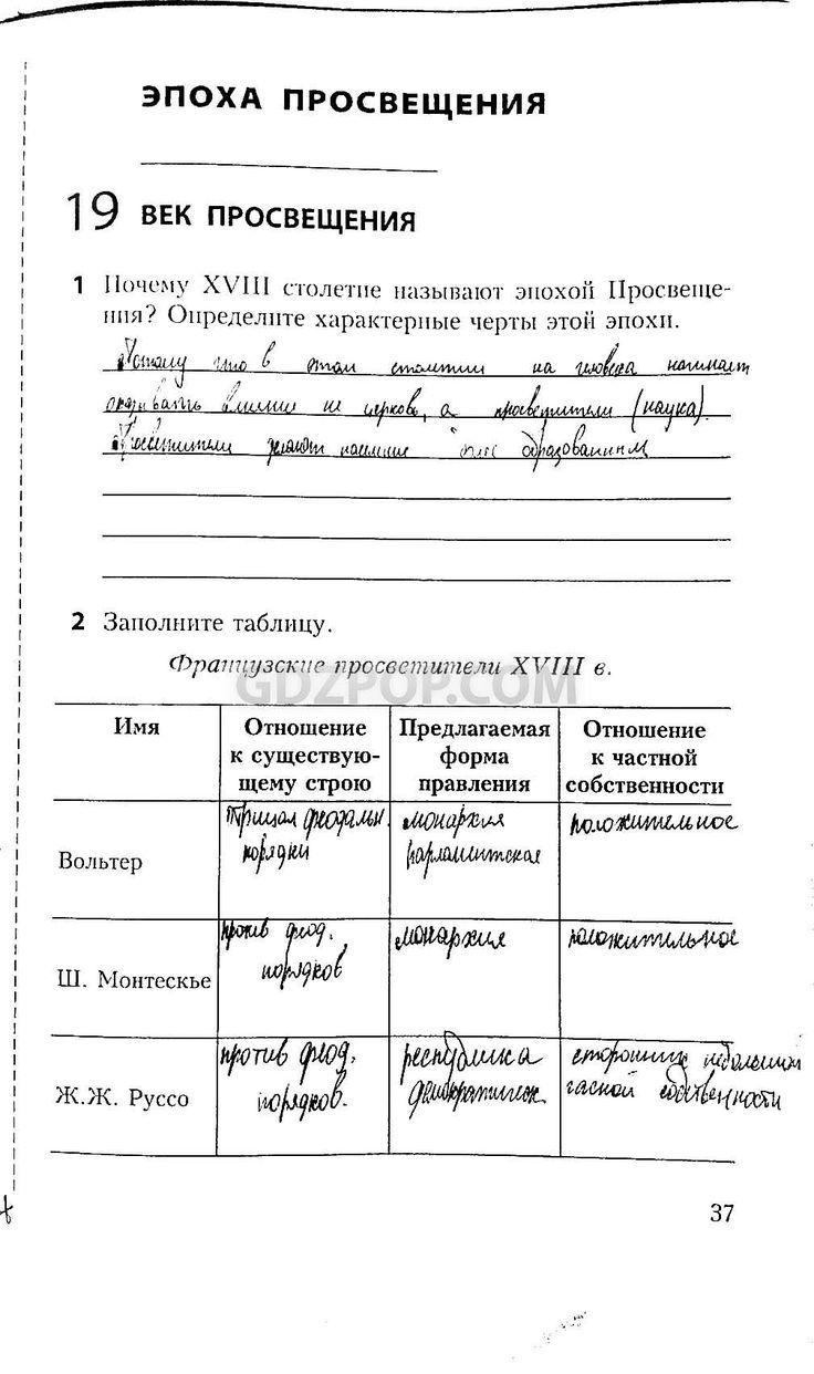 Красильникова утевская рабочая тетрадь природоведение гдз 6 класс