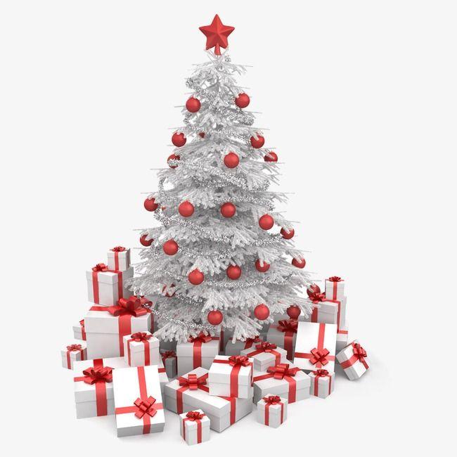 Caja De Regalo De Navidad Blanca Clipart De Regalo Blanca Navidad Colgante Rojo Png Y Psd Para Descargar Gratis Pngtree Christmas Tree With Coloured Lights Christmas Wall Decal Red Christmas Tree