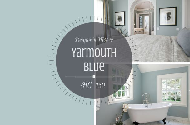 Benjamin Moore Yarmouth Blue with Cloud White