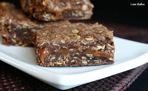 Oatmeal Brownie Milky Way Bars #Dessert