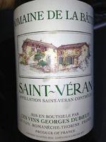 Georges Duboeuf Domaine de La Bâtie Saint-Véran 2008, #wine #enjoy #drink #bourgogne #france #frankrig #vin